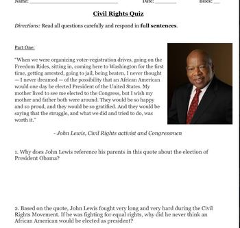Civil Rights Quiz