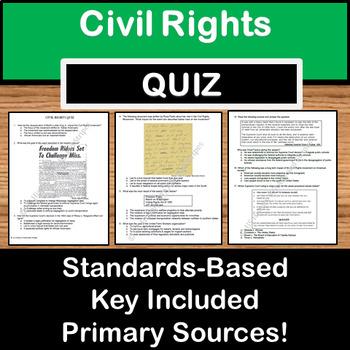 Civil Rights Quiz - TEXAS US History STAAR