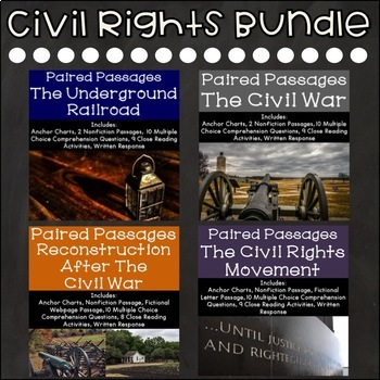Civil Rights Reading Comprehension Paired Passages {Bundle}