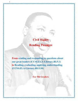 Civil Rights Reading Passages For 5th Graders