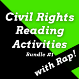 Civil Rights Leaders Reading Passages & Comprehension Questions w/ Songs Bundle