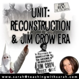 Unit- Reconstruction, Jim Crow & the KKK