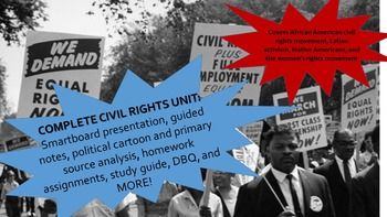 Civil Rights Movement + More! Complete Unit w/ DBQs, guided readings
