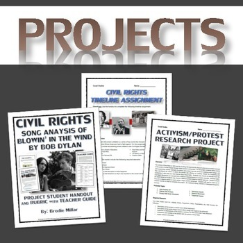 Civil Rights - Resource Bundle (PPT, Projects, Questions, Readings, etc.)