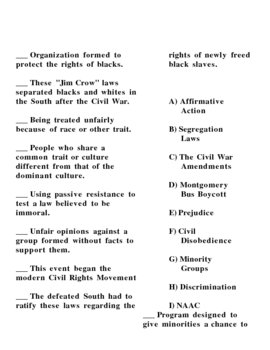 Civil Rights Resources, lesson ideas, and worksheets