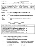 Civil Rights Review Sheet