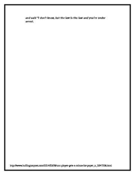 Civil Rights Rosa Parks Essay Rewrite Activity Assessment