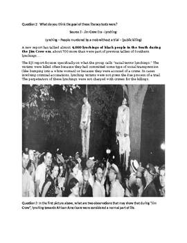 Civil Rights Socratic Seminar - Part 1 - The Legacy of Jim Crow