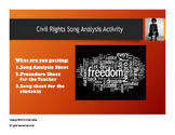 Civil Rights Song Activity
