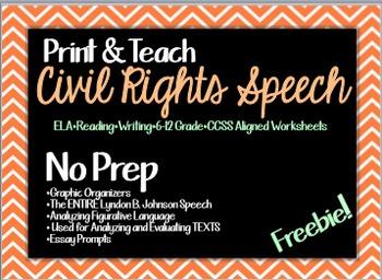 Civil Rights Speech (PARCC Questions)