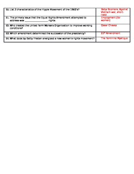 Civil Rights Study Guide