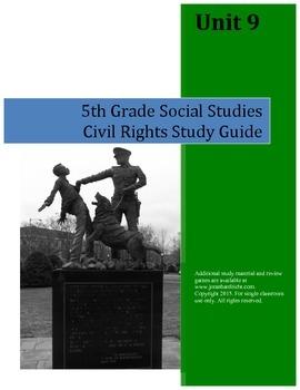 Civil Rights Study Guide--5th Grade Social Studies