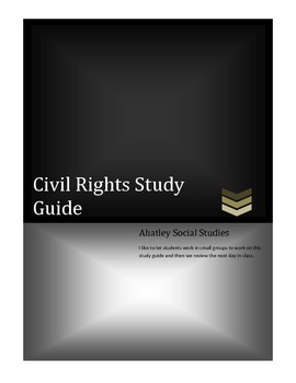 Civil Rights-Study Guide Bundle