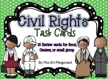 Civil Rights Task Cards {{Freebie}}