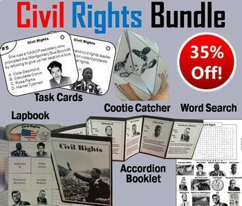 Civil Rights Task Cards and Activities Bundle (Black History Month Unit)