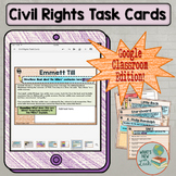 Civil Rights Task Cards for Google Classroom and One Drive