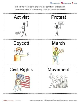 Civil Rights |  Teacher Materials (part 2 of 2) | SpEd: Gd. 5 - Young Adult