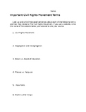 Civil Rights Terms Research