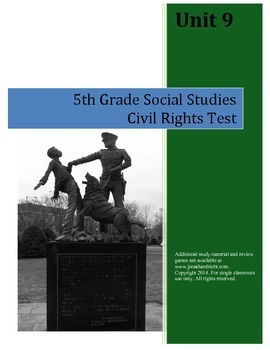 Civil Rights Test--5th Grade Social Studies