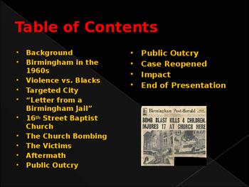 Civil Rights & The Birmingham Church Bombing