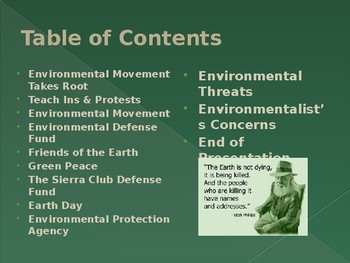 Civil Rights & The Environmental Movement