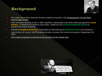 Civil Rights & The Little Rock Nine