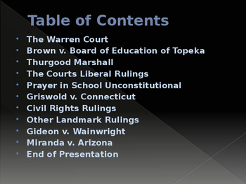 Civil Rights & The Warren Court