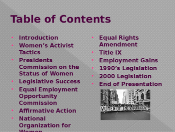 Civil Rights & The Women's Movement