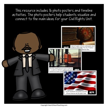 Civil Rights Timeline Kit with Posters & Activities