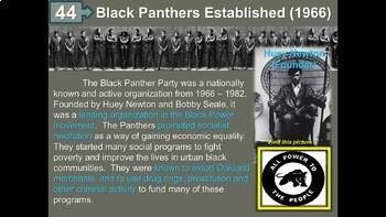 Civil Rights Unit: 3-week massive 115-slide PPT w links, primary sources & more