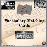 Civil Rights Vocabulary Matching Cards