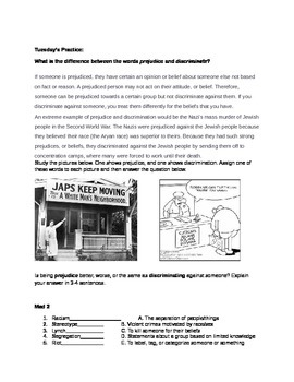 Civil Rights Vocabulary Packet