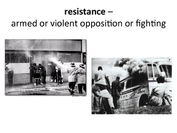 Civil Rights Movement Vocabulary Slideshow
