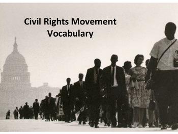 Civil Rights Movement Vocabulary Slideshow