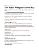 Civil Rights Webquest- Martin Luther King Jr., Rosa Parks, Freedom Riders