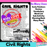 Civil Rights: Word Search Activity: Perfect for Black History Month