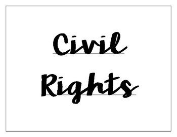 Civil Rights Word Wall