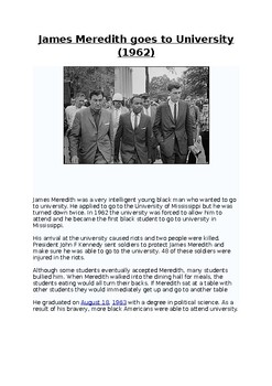 Civil Rights Worksheets