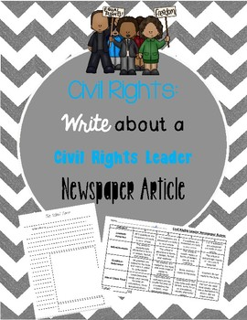 Civil Rights: Write about a Civil Rights Leader Newspaper Article