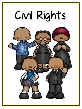 Civil Rights Writing Word Thematic Folder - Picture Word Wall