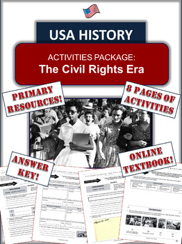 The Civil Rights Struggle: Primary and Secondary Source Analysis - 8 Pages!