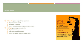 Civil Rights and Civil Liberties PPT