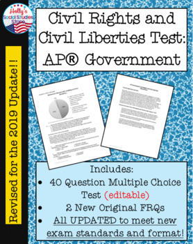 Civil Rights and Civil Liberties Test (For AP® Government course)