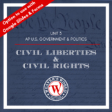Civil Rights and Civil Liberties Unit Materials for AP Government and Politics