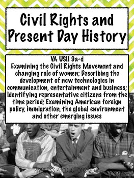 Civil Rights and Present Issues - US History 1865 to Present Cornell Notes