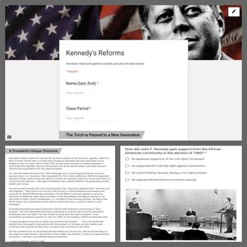 Civil Rights and Reform Lesson: Kennedy's Reforms