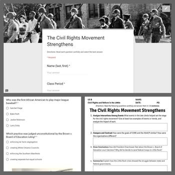 Civil Rights and Reform Lesson: The Civil Rights Movement Strengthens