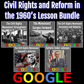 Civil Rights and Reform in the 1960's Lesson Bundle