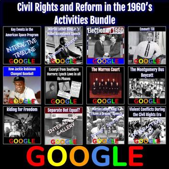 Civil Rights and Reform in the 1960's Activities Bundle