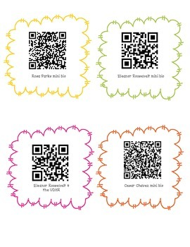 Civil Rights and Social Justice Leaders QR Codes